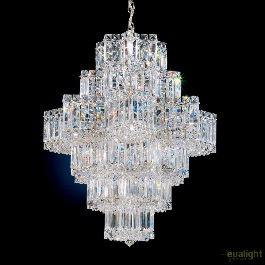 Lustra eleganta design LUX Crystal Gemcut, Equinoxe 2724, Lustre Cristal Schonbek , Corpuri de iluminat, lustre, aplice, veioze, lampadare, plafoniere. Mobilier si decoratiuni, oglinzi, scaune, fotolii. Oferte speciale iluminat interior si exterior. Livram in toata tara.  a