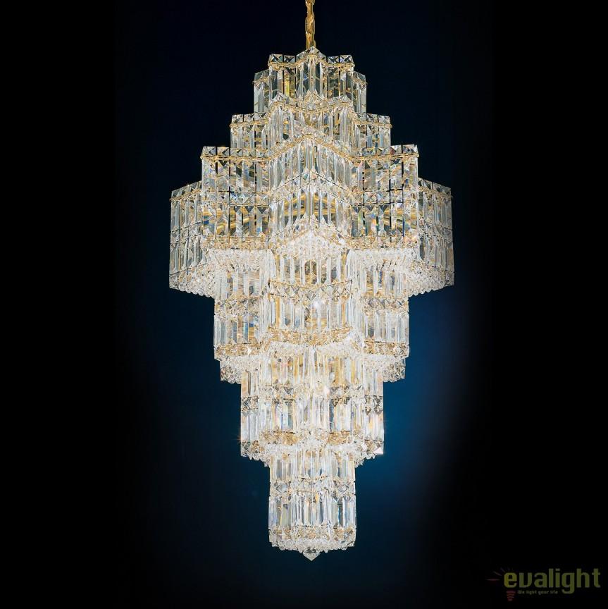 Lustra eleganta design LUX Crystal Gemcut, Equinoxe 2725, Lustre Cristal Schonbek , Corpuri de iluminat, lustre, aplice, veioze, lampadare, plafoniere. Mobilier si decoratiuni, oglinzi, scaune, fotolii. Oferte speciale iluminat interior si exterior. Livram in toata tara.  a