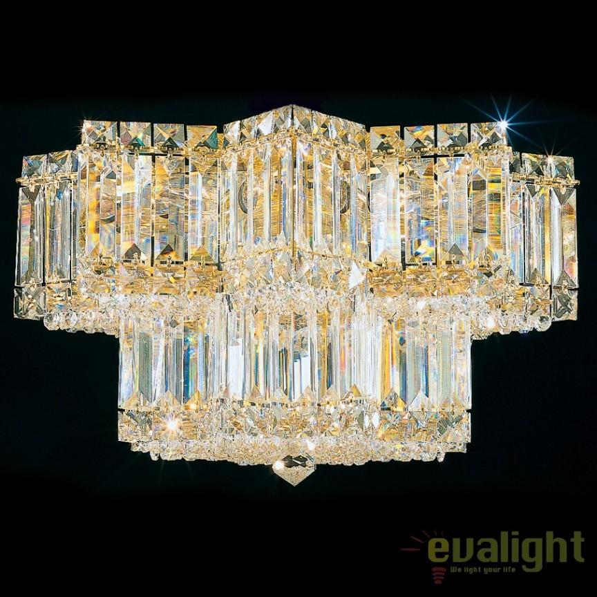 Plafoniera design LUX Crystal Gemcut, Equinoxe 2732, LUSTRE CRISTAL, Corpuri de iluminat, lustre, aplice, veioze, lampadare, plafoniere. Mobilier si decoratiuni, oglinzi, scaune, fotolii. Oferte speciale iluminat interior si exterior. Livram in toata tara.  a