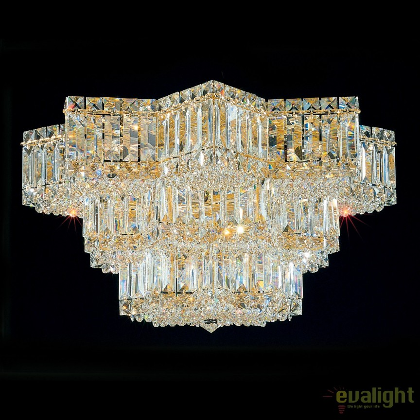 Plafoniera design LUX Crystal Gemcut, Equinoxe 2733, LUSTRE CRISTAL, Corpuri de iluminat, lustre, aplice, veioze, lampadare, plafoniere. Mobilier si decoratiuni, oglinzi, scaune, fotolii. Oferte speciale iluminat interior si exterior. Livram in toata tara.  a