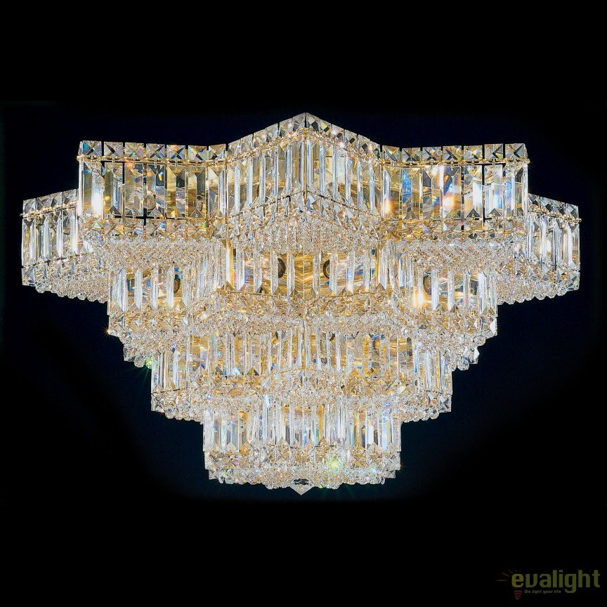 Plafoniera design LUX Crystal Gemcut, Equinoxe 2734, Plafoniere Cristal Schonbek , Corpuri de iluminat, lustre, aplice, veioze, lampadare, plafoniere. Mobilier si decoratiuni, oglinzi, scaune, fotolii. Oferte speciale iluminat interior si exterior. Livram in toata tara.  a