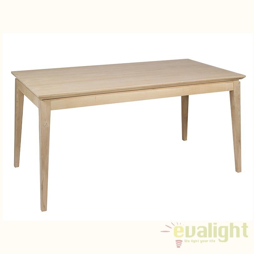 Masa din lemn design industrial Mallorca 52652 SAP, Mese dining, Corpuri de iluminat, lustre, aplice, veioze, lampadare, plafoniere. Mobilier si decoratiuni, oglinzi, scaune, fotolii. Oferte speciale iluminat interior si exterior. Livram in toata tara.  a