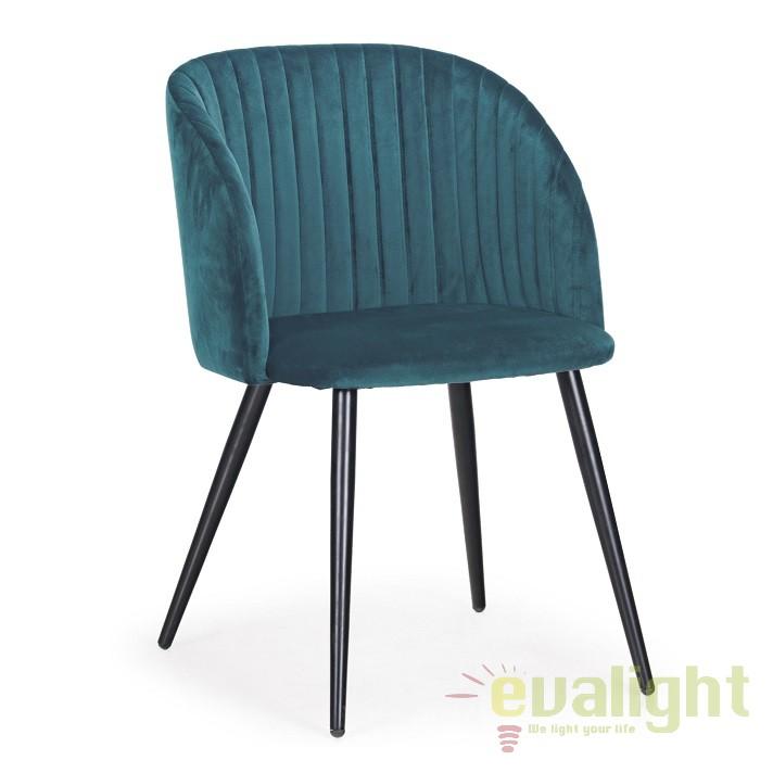 Set de 2 scaune design modern QUEEN albastru 0734284 BZ, Seturi scaune dining, scaune HoReCa, Corpuri de iluminat, lustre, aplice, veioze, lampadare, plafoniere. Mobilier si decoratiuni, oglinzi, scaune, fotolii. Oferte speciale iluminat interior si exterior. Livram in toata tara.  a