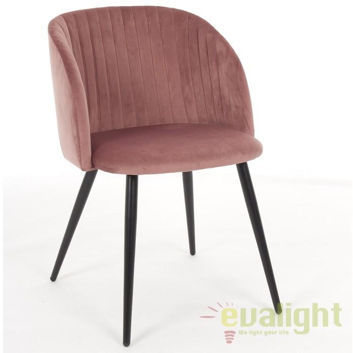 Set de 2 scaune design modern QUEEN rosu-blush 0734282 BZ, Seturi scaune dining, scaune HoReCa, Corpuri de iluminat, lustre, aplice, veioze, lampadare, plafoniere. Mobilier si decoratiuni, oglinzi, scaune, fotolii. Oferte speciale iluminat interior si exterior. Livram in toata tara.  a