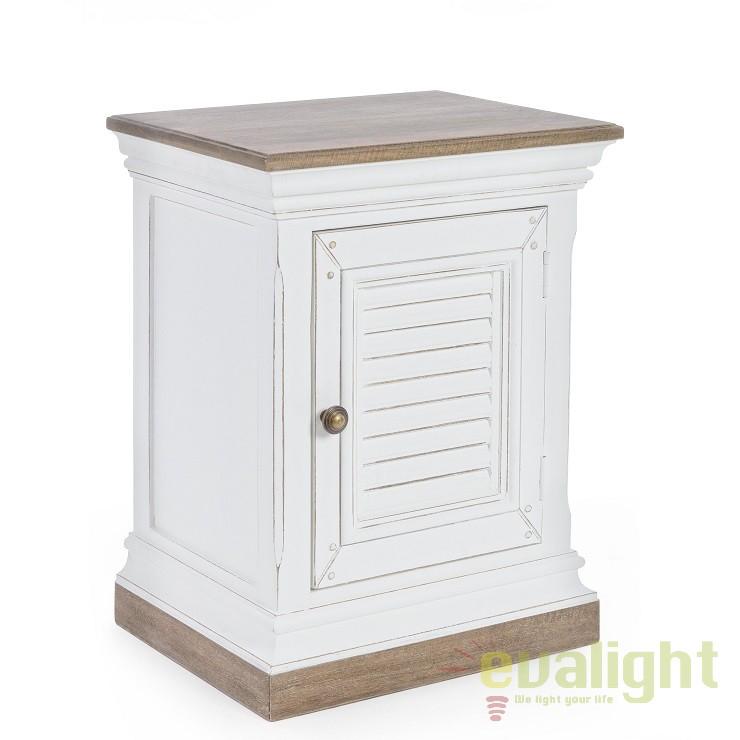 Noptiera design vintage LINCOLN alb, natur 0745298 BZ, Cele mai noi produse 2018 a