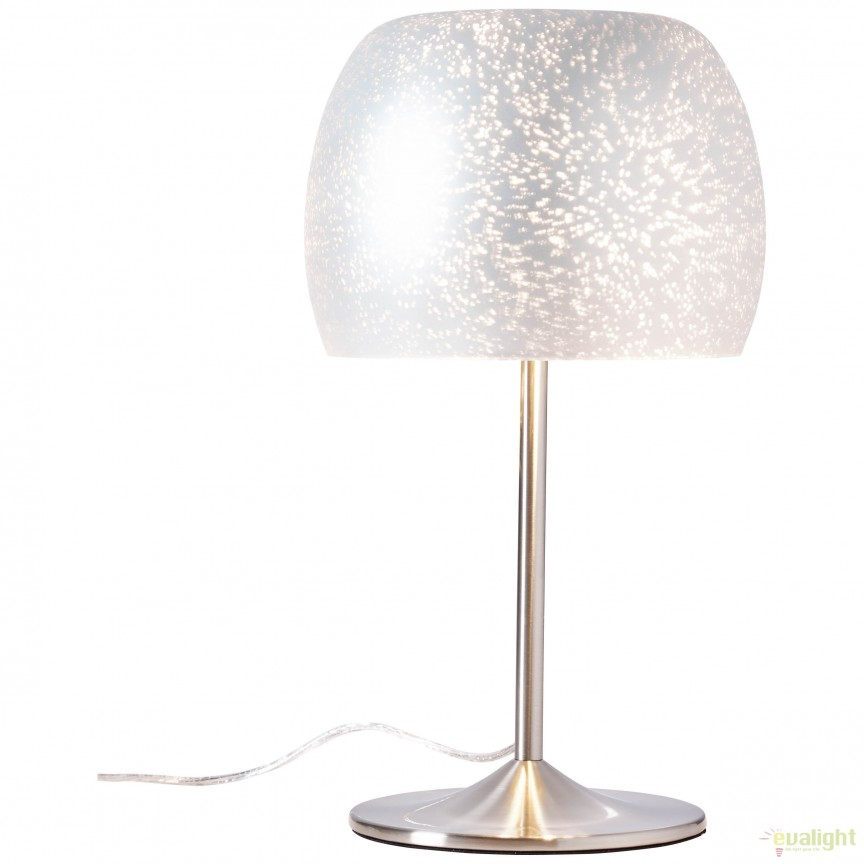 Veioza / Lampa de masa design modern Gleam argintiu 73949/58 BL, Magazin, Corpuri de iluminat, lustre, aplice, veioze, lampadare, plafoniere. Mobilier si decoratiuni, oglinzi, scaune, fotolii. Oferte speciale iluminat interior si exterior. Livram in toata tara.  a
