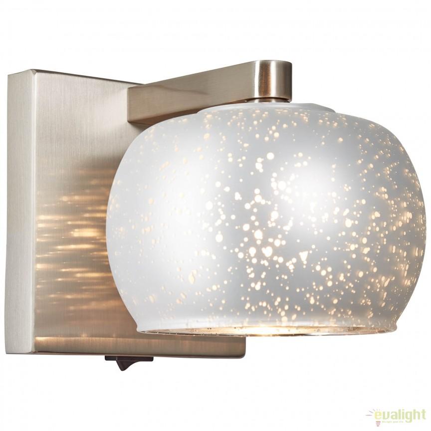 Aplica perete design modern Gleam II argintie 73990/58 BL, Magazin, Corpuri de iluminat, lustre, aplice, veioze, lampadare, plafoniere. Mobilier si decoratiuni, oglinzi, scaune, fotolii. Oferte speciale iluminat interior si exterior. Livram in toata tara.  a