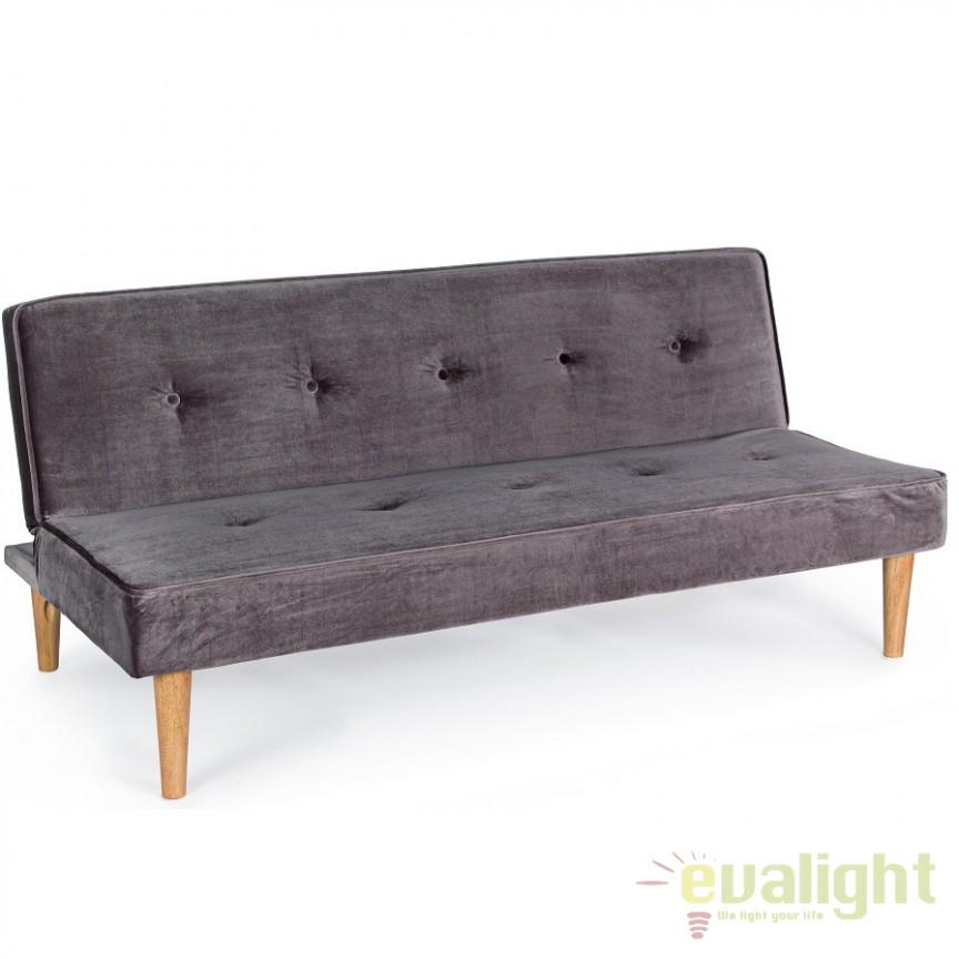 Canapea extensibila cu tapiterie din catifea MINK 5760726 BZ, Cele mai noi produse 2018 a