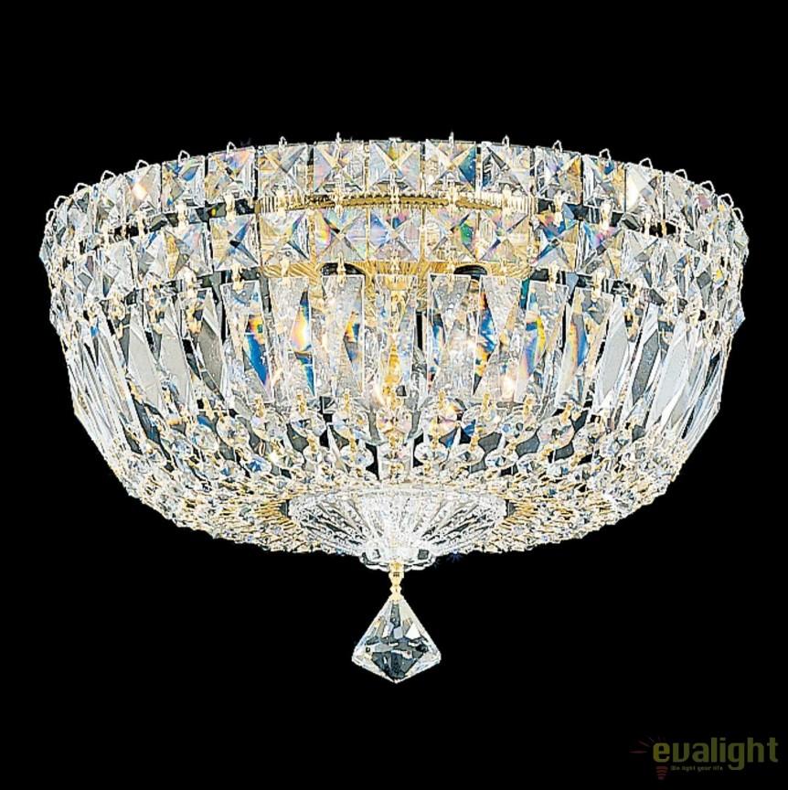 Plafoniera design LUX Crystal Gemcut, diametru 30cm, Petit Crystal Deluxe 5892, Plafoniere Cristal Schonbek , Corpuri de iluminat, lustre, aplice, veioze, lampadare, plafoniere. Mobilier si decoratiuni, oglinzi, scaune, fotolii. Oferte speciale iluminat interior si exterior. Livram in toata tara.  a