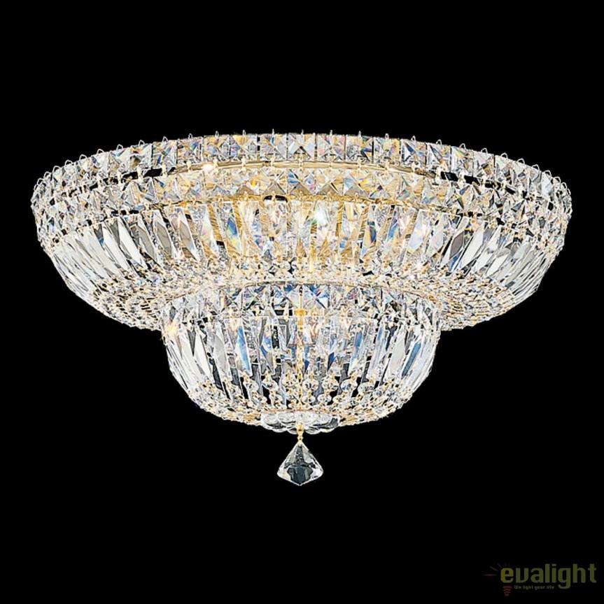 Plafoniera design LUX Crystal Gemcut, Petit Crystal Deluxe 5894, 46cm, Plafoniere Cristal Schonbek , Corpuri de iluminat, lustre, aplice, veioze, lampadare, plafoniere. Mobilier si decoratiuni, oglinzi, scaune, fotolii. Oferte speciale iluminat interior si exterior. Livram in toata tara.  a