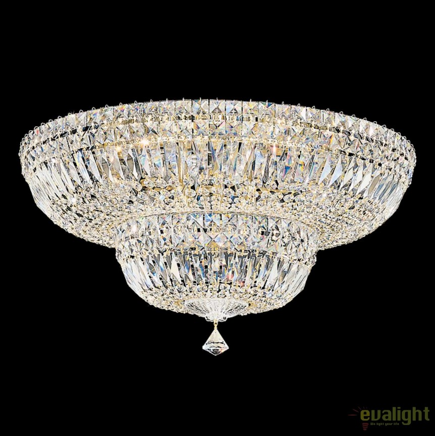 Plafoniera design LUX Crystal Gemcut, Petit Crystal Deluxe 5895, 61cm, Plafoniere Cristal Schonbek , Corpuri de iluminat, lustre, aplice, veioze, lampadare, plafoniere. Mobilier si decoratiuni, oglinzi, scaune, fotolii. Oferte speciale iluminat interior si exterior. Livram in toata tara.  a