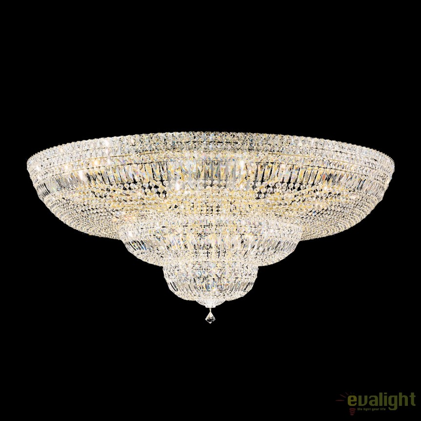 Plafoniera LUX cristal Swarovski, Petit Crystal Deluxe 5897, 122cm, Plafoniere Cristal Schonbek , Corpuri de iluminat, lustre, aplice, veioze, lampadare, plafoniere. Mobilier si decoratiuni, oglinzi, scaune, fotolii. Oferte speciale iluminat interior si exterior. Livram in toata tara.  a
