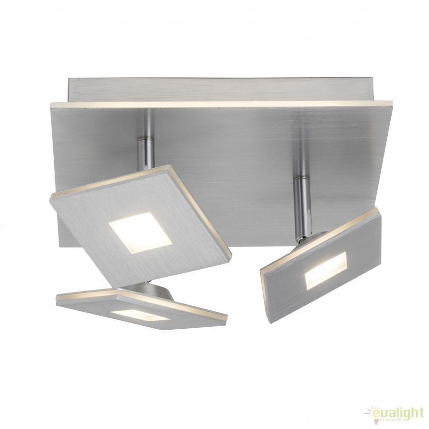 Plafoniera LED moderna design minimalist EXTRO 3L G61334/21 BL, Spoturi - iluminat - cu 3 spoturi, Corpuri de iluminat, lustre, aplice, veioze, lampadare, plafoniere. Mobilier si decoratiuni, oglinzi, scaune, fotolii. Oferte speciale iluminat interior si exterior. Livram in toata tara.  a