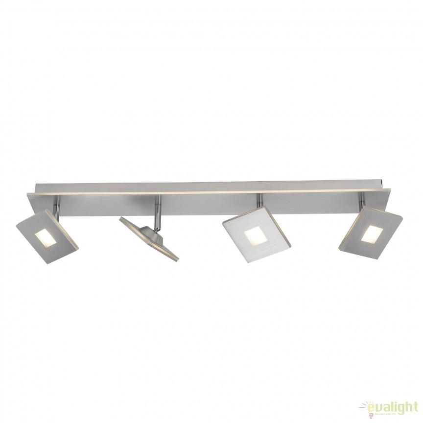 Plafoniera LED moderna design minimalist EXTRO 4L G61331/21 BL, Spoturi - iluminat - cu 4 spoturi, Corpuri de iluminat, lustre, aplice, veioze, lampadare, plafoniere. Mobilier si decoratiuni, oglinzi, scaune, fotolii. Oferte speciale iluminat interior si exterior. Livram in toata tara.  a