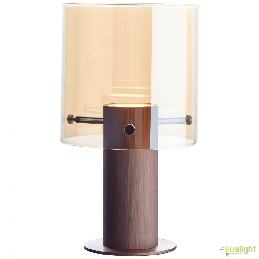 Veioza / Lampa de masa LED design modern BETH cupru G75547/10 BL, Veioze LED, Lampadare LED, Corpuri de iluminat, lustre, aplice, veioze, lampadare, plafoniere. Mobilier si decoratiuni, oglinzi, scaune, fotolii. Oferte speciale iluminat interior si exterior. Livram in toata tara.  a