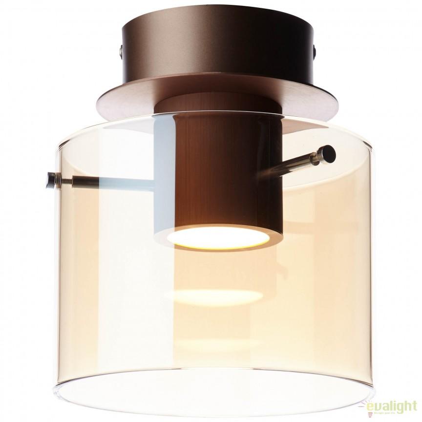 Plafoniera LED design modern BETH cupru G75591/10 BL, Plafoniere LED, Spoturi LED, Corpuri de iluminat, lustre, aplice, veioze, lampadare, plafoniere. Mobilier si decoratiuni, oglinzi, scaune, fotolii. Oferte speciale iluminat interior si exterior. Livram in toata tara.  a