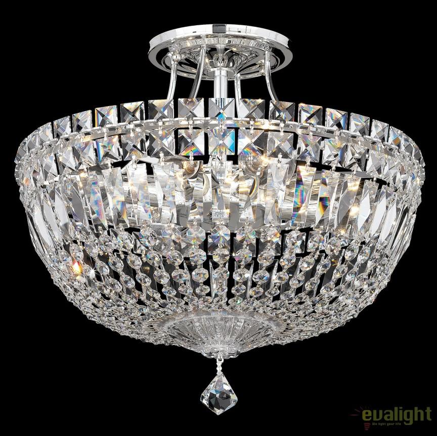Plafoniera design LUX Crystal Spectra, Petit Crystal Deluxe 5902, 36cm, Plafoniere Cristal Schonbek , Corpuri de iluminat, lustre, aplice, veioze, lampadare, plafoniere. Mobilier si decoratiuni, oglinzi, scaune, fotolii. Oferte speciale iluminat interior si exterior. Livram in toata tara.  a