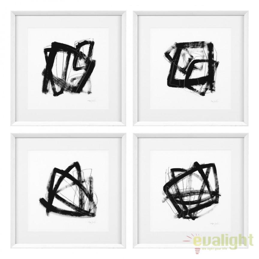 Set 4 tablouri decorative design LUX Tessellation 112750 HZ, Tablouri decorative, Corpuri de iluminat, lustre, aplice, veioze, lampadare, plafoniere. Mobilier si decoratiuni, oglinzi, scaune, fotolii. Oferte speciale iluminat interior si exterior. Livram in toata tara.  a