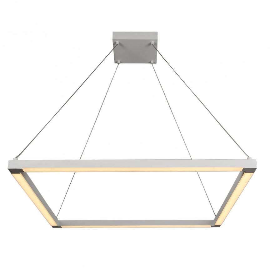 Lustra moderna cu iluminat LED design decorativ cu un corp geometric suspendat Hayley LED-M50255, Magazin, Corpuri de iluminat, lustre, aplice, veioze, lampadare, plafoniere. Mobilier si decoratiuni, oglinzi, scaune, fotolii. Oferte speciale iluminat interior si exterior. Livram in toata tara.  a