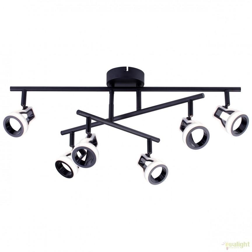 Plafoniera LED moderna directionabila UNIX 6 G77696/06 BL, Lustre moderne aplicate, Corpuri de iluminat, lustre, aplice, veioze, lampadare, plafoniere. Mobilier si decoratiuni, oglinzi, scaune, fotolii. Oferte speciale iluminat interior si exterior. Livram in toata tara.  a