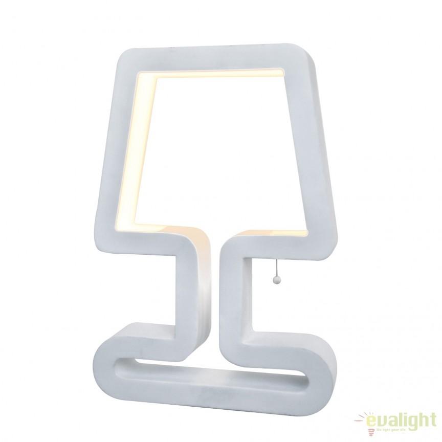 Veioza design modern iluminat LED Linton alb LED-M50285, Magazin, Corpuri de iluminat, lustre, aplice, veioze, lampadare, plafoniere. Mobilier si decoratiuni, oglinzi, scaune, fotolii. Oferte speciale iluminat interior si exterior. Livram in toata tara.  a