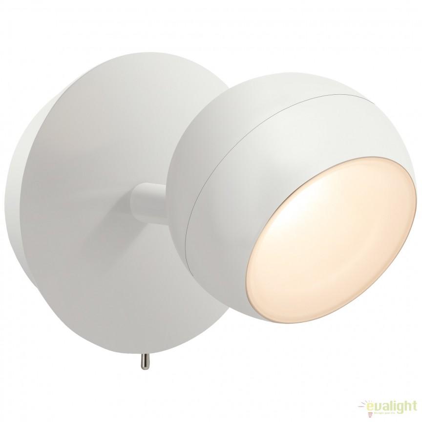 Aplica LED cu spot directionabil INOVA alba G58011/05 BL, Spoturi - iluminat - cu 1 spot, Corpuri de iluminat, lustre, aplice, veioze, lampadare, plafoniere. Mobilier si decoratiuni, oglinzi, scaune, fotolii. Oferte speciale iluminat interior si exterior. Livram in toata tara.  a