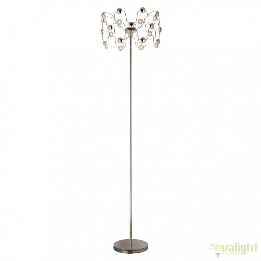 Lampadar elegant design modern LED Lucero LED-M50292, Magazin, Corpuri de iluminat, lustre, aplice, veioze, lampadare, plafoniere. Mobilier si decoratiuni, oglinzi, scaune, fotolii. Oferte speciale iluminat interior si exterior. Livram in toata tara.  a