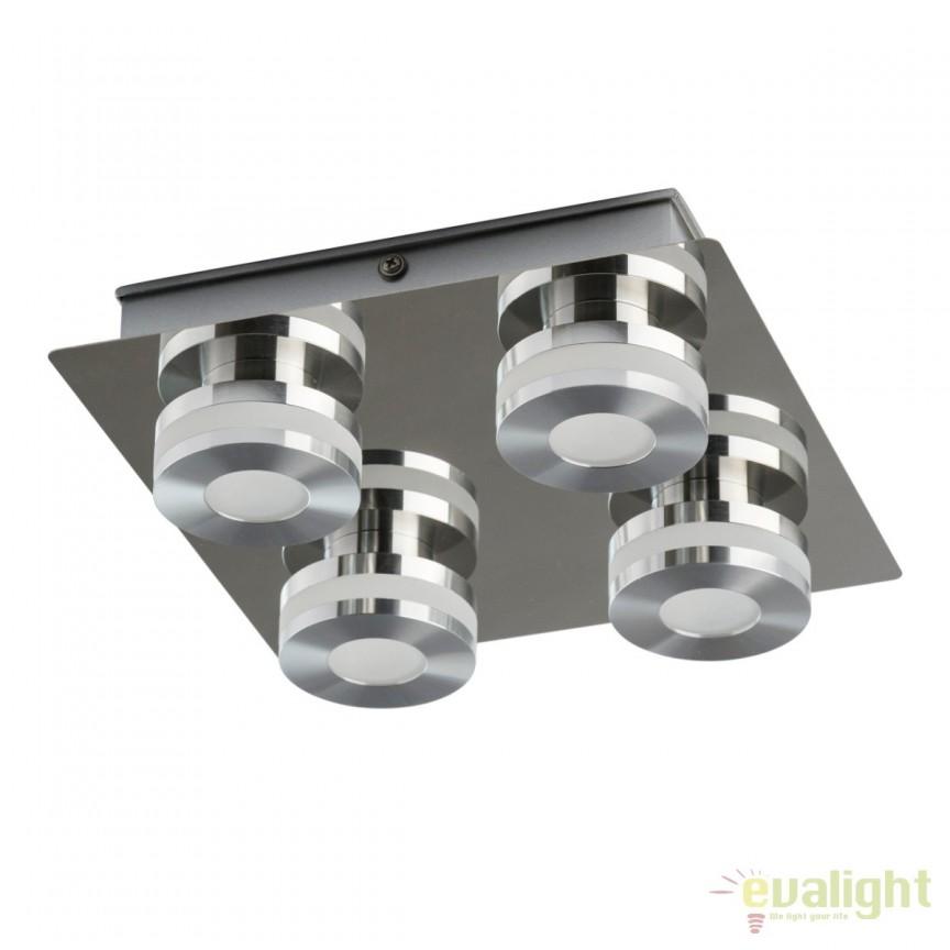 Plafoniera baie LED moderna Punktum 4L 549010704 MW, Plafoniere cu protectie pentru baie, Corpuri de iluminat, lustre, aplice, veioze, lampadare, plafoniere. Mobilier si decoratiuni, oglinzi, scaune, fotolii. Oferte speciale iluminat interior si exterior. Livram in toata tara.  a