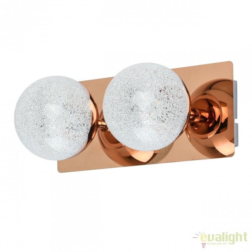 Aplica perete LED moderna Casper 2L cupru 707020402 MW, Aplice de perete LED, Corpuri de iluminat, lustre, aplice, veioze, lampadare, plafoniere. Mobilier si decoratiuni, oglinzi, scaune, fotolii. Oferte speciale iluminat interior si exterior. Livram in toata tara.  a
