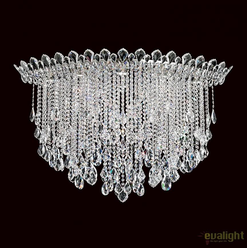 Plafoniera design LUX cristal Heritage, Trilliane Strands TR4802, Lustre Cristal Schonbek , Corpuri de iluminat, lustre, aplice, veioze, lampadare, plafoniere. Mobilier si decoratiuni, oglinzi, scaune, fotolii. Oferte speciale iluminat interior si exterior. Livram in toata tara.  a