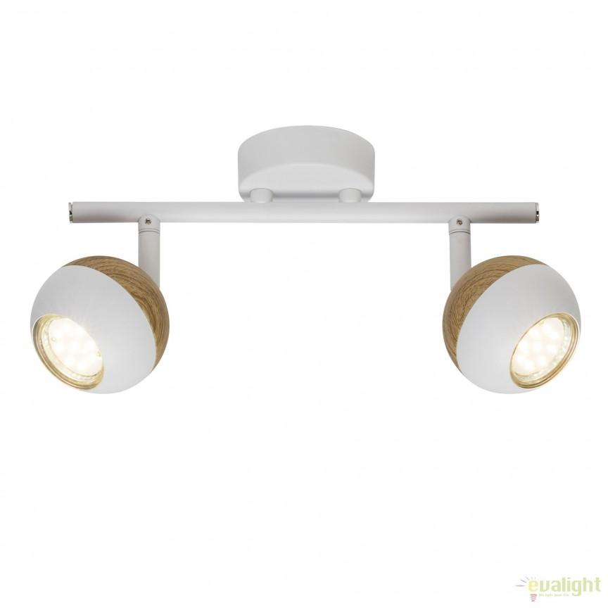 Plafoniera LED moderna directionabila Scan 2L G59413/75 BL, Spoturi - iluminat - cu 2 spoturi, Corpuri de iluminat, lustre, aplice, veioze, lampadare, plafoniere. Mobilier si decoratiuni, oglinzi, scaune, fotolii. Oferte speciale iluminat interior si exterior. Livram in toata tara.  a