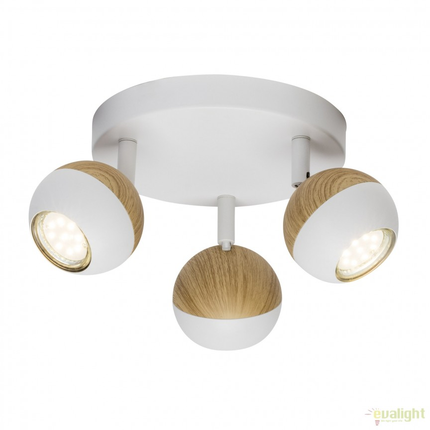 Plafoniera LED moderna directionabila Scan 3L G59434/75 BL, Spoturi - iluminat - cu 3 spoturi, Corpuri de iluminat, lustre, aplice, veioze, lampadare, plafoniere. Mobilier si decoratiuni, oglinzi, scaune, fotolii. Oferte speciale iluminat interior si exterior. Livram in toata tara.  a