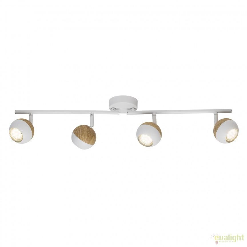 Plafoniera LED moderna directionabila Scan 4L G59432/75 BL, Spoturi - iluminat - cu 4 spoturi, Corpuri de iluminat, lustre, aplice, veioze, lampadare, plafoniere. Mobilier si decoratiuni, oglinzi, scaune, fotolii. Oferte speciale iluminat interior si exterior. Livram in toata tara.  a