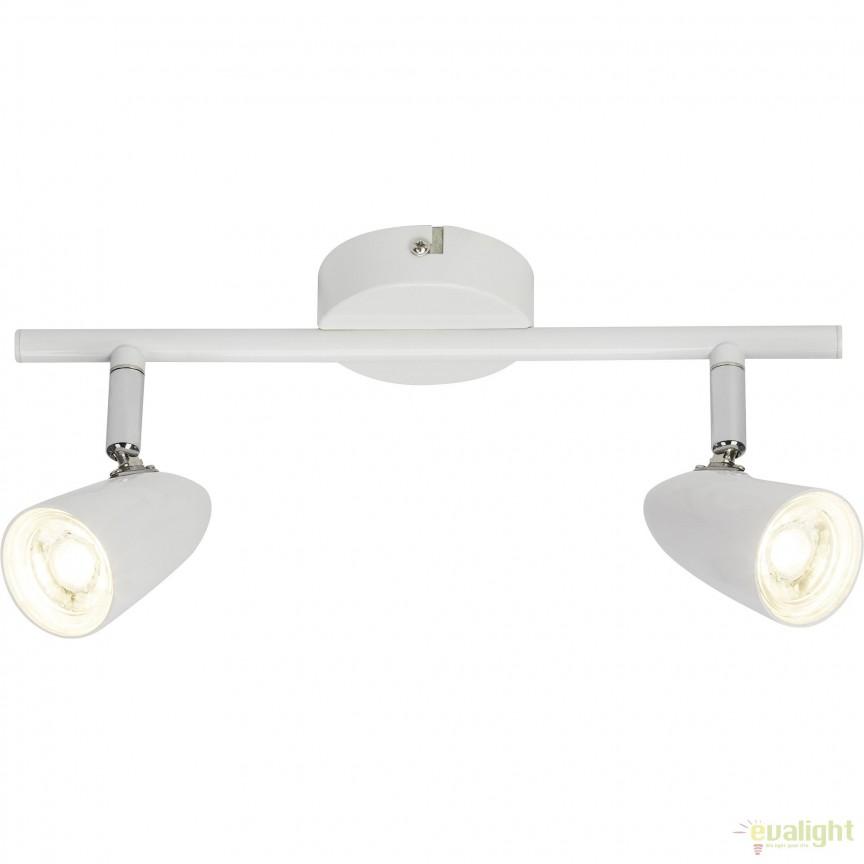 Plafoniera LED minimalista directionabila Nano 2L G50713/05 BL, Spoturi - iluminat - cu 2 spoturi, Corpuri de iluminat, lustre, aplice, veioze, lampadare, plafoniere. Mobilier si decoratiuni, oglinzi, scaune, fotolii. Oferte speciale iluminat interior si exterior. Livram in toata tara.  a