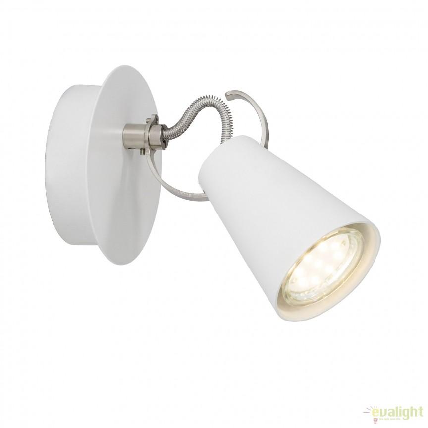 Aplica LED moderna directionabila Saso alba 62710/75 BL, Aplice de perete LED, Corpuri de iluminat, lustre, aplice, veioze, lampadare, plafoniere. Mobilier si decoratiuni, oglinzi, scaune, fotolii. Oferte speciale iluminat interior si exterior. Livram in toata tara.  a