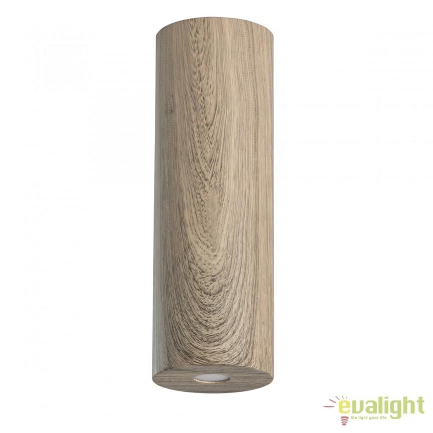 Spot LED aplicat finisaj lemn stejar Ilang H20cm 712010401 MW, Spoturi LED incastrate, aplicate, Corpuri de iluminat, lustre, aplice, veioze, lampadare, plafoniere. Mobilier si decoratiuni, oglinzi, scaune, fotolii. Oferte speciale iluminat interior si exterior. Livram in toata tara.  a