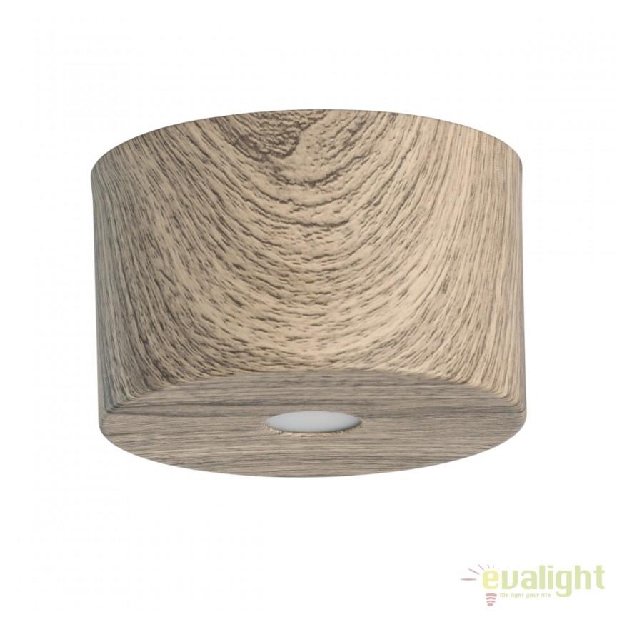 Spot LED aplicat finisaj lemn stejar Ilang H8cm 712010201 MW, Spoturi LED incastrate, aplicate, Corpuri de iluminat, lustre, aplice, veioze, lampadare, plafoniere. Mobilier si decoratiuni, oglinzi, scaune, fotolii. Oferte speciale iluminat interior si exterior. Livram in toata tara.  a