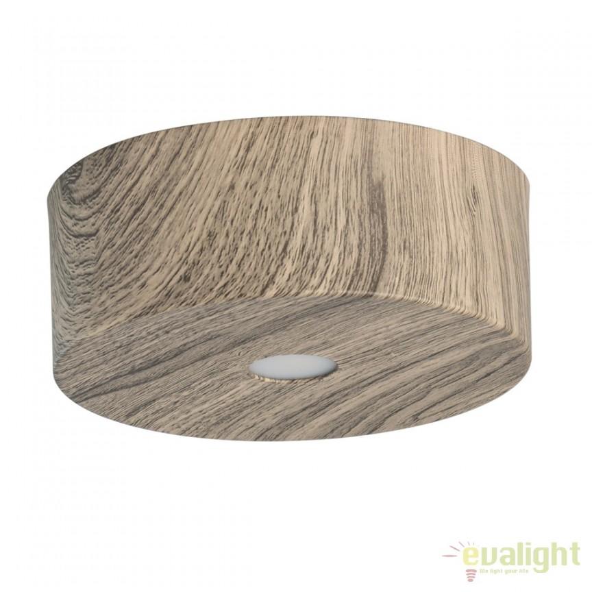 Spot LED aplicat finisaj lemn stejar Ilang H6cm 712010101 MW, Spoturi LED incastrate, aplicate, Corpuri de iluminat, lustre, aplice, veioze, lampadare, plafoniere. Mobilier si decoratiuni, oglinzi, scaune, fotolii. Oferte speciale iluminat interior si exterior. Livram in toata tara.  a