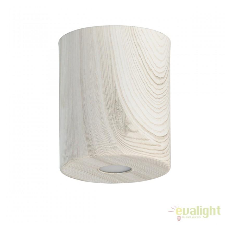 Spot LED aplicat finisaj lemn stejar deschis Ilang H12cm 712010801 MW, Spoturi LED incastrate, aplicate, Corpuri de iluminat, lustre, aplice, veioze, lampadare, plafoniere. Mobilier si decoratiuni, oglinzi, scaune, fotolii. Oferte speciale iluminat interior si exterior. Livram in toata tara.  a