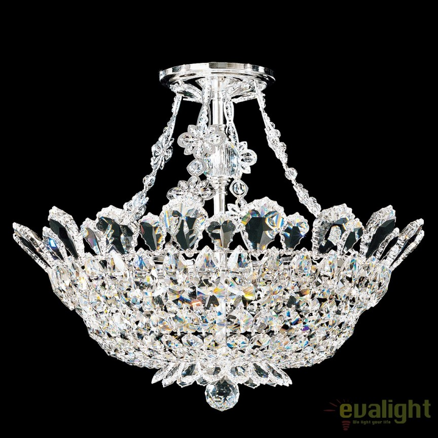 Plafoniera eleganta design LUX cristal Spectra, Trilliane 5796, Plafoniere Cristal Schonbek , Corpuri de iluminat, lustre, aplice, veioze, lampadare, plafoniere. Mobilier si decoratiuni, oglinzi, scaune, fotolii. Oferte speciale iluminat interior si exterior. Livram in toata tara.  a