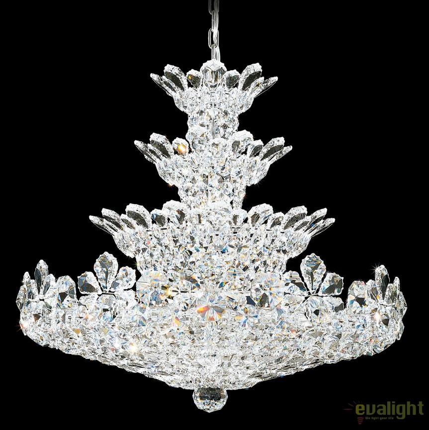 Lustra eleganta design LUX cristal Spectra, Trilliane 5856, LUSTRE CRISTAL, Corpuri de iluminat, lustre, aplice, veioze, lampadare, plafoniere. Mobilier si decoratiuni, oglinzi, scaune, fotolii. Oferte speciale iluminat interior si exterior. Livram in toata tara.  a