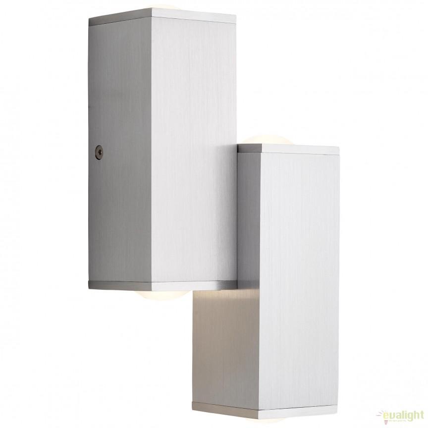 Aplica perete LED iluminat UP and Down Cubic 4L G96888/21 BL, Spoturi aplicate - tavan / perete, Corpuri de iluminat, lustre, aplice, veioze, lampadare, plafoniere. Mobilier si decoratiuni, oglinzi, scaune, fotolii. Oferte speciale iluminat interior si exterior. Livram in toata tara.  a