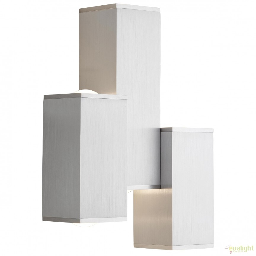 Aplica perete LED iluminat UP and Down Cubic 6L G96889/21 BL, Spoturi aplicate - tavan / perete, Corpuri de iluminat, lustre, aplice, veioze, lampadare, plafoniere. Mobilier si decoratiuni, oglinzi, scaune, fotolii. Oferte speciale iluminat interior si exterior. Livram in toata tara.  a