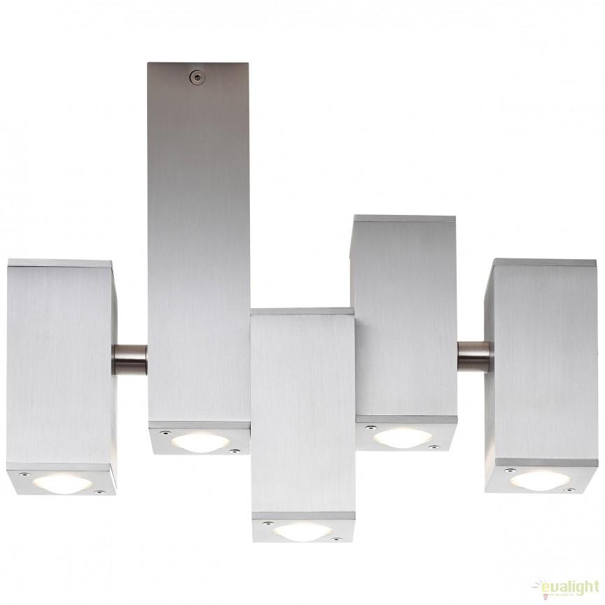 Plafoniera LED iluminat UP and Down Cubic 9L G96890/21 BL, Spoturi aplicate - tavan / perete, Corpuri de iluminat, lustre, aplice, veioze, lampadare, plafoniere. Mobilier si decoratiuni, oglinzi, scaune, fotolii. Oferte speciale iluminat interior si exterior. Livram in toata tara.  a