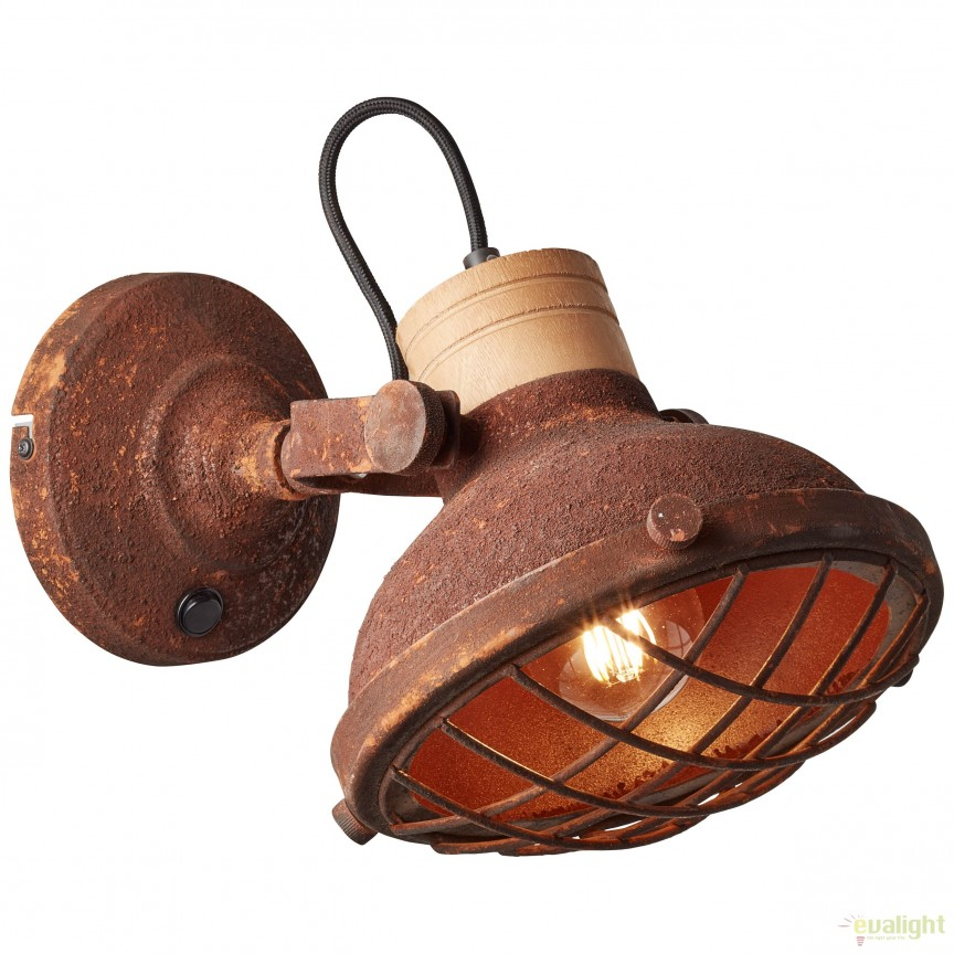 Aplica perete stil industrial directionabila CHARO maro ruginie 96896/60 BL, NOU ! Lustre VINTAGE, RETRO, INDUSTRIA Style,  a