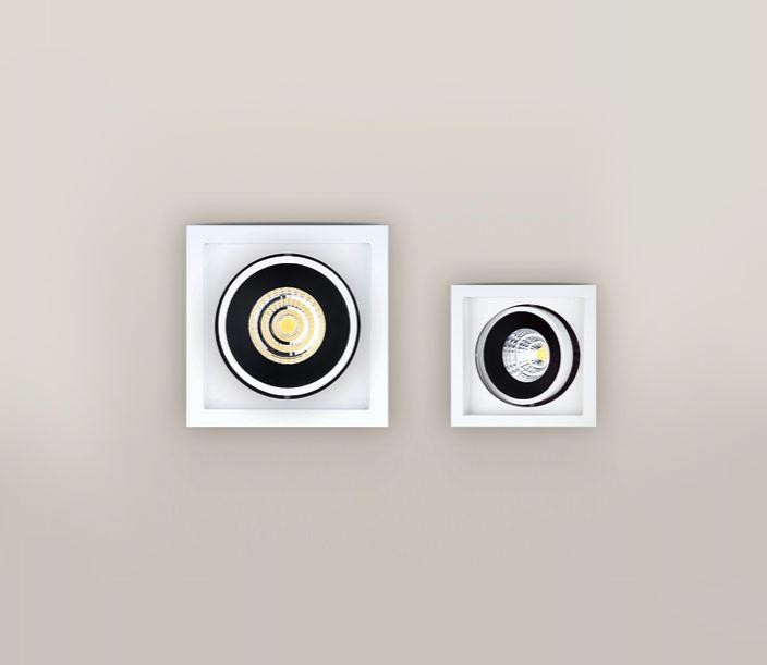 Spot alb directionabil, incastrabil, dim.16,8x16,8cm, LED Matchled I H0046 MX, Spoturi LED incastrate, aplicate, Corpuri de iluminat, lustre, aplice a