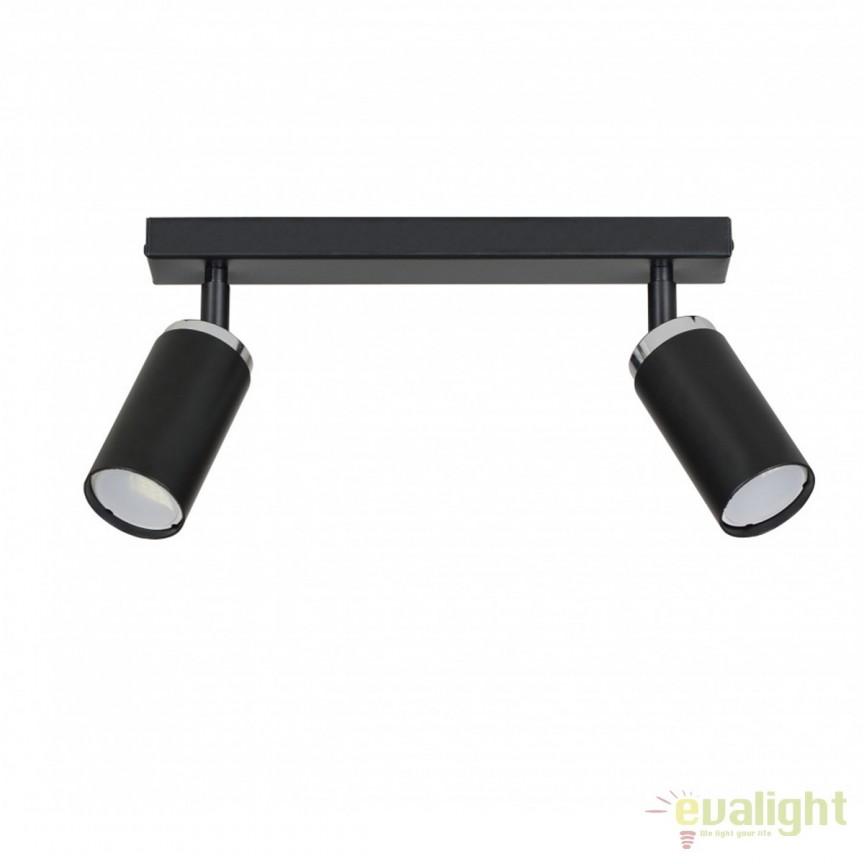 Plafoniera moderna cu 2 spoturi directionabile HERA negru 960/2 EMB, Spoturi - iluminat - cu 2 spoturi, Corpuri de iluminat, lustre, aplice, veioze, lampadare, plafoniere. Mobilier si decoratiuni, oglinzi, scaune, fotolii. Oferte speciale iluminat interior si exterior. Livram in toata tara.  a