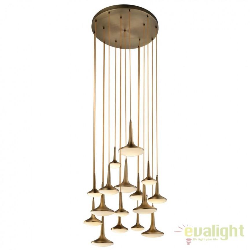 Lustra LED cu 15 pendule design retro Infinity DZ-104044, NOU ! Lustre VINTAGE, RETRO, INDUSTRIA Style, Corpuri de iluminat, lustre, aplice, veioze, lampadare, plafoniere. Mobilier si decoratiuni, oglinzi, scaune, fotolii. Oferte speciale iluminat interior si exterior. Livram in toata tara.  a