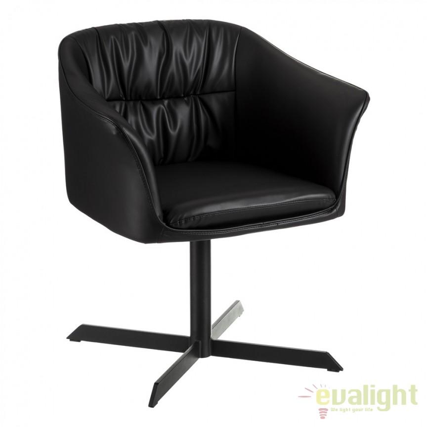 Scaun design elegant Tristan negru DZ-105448, Scaune dining , Corpuri de iluminat, lustre, aplice, veioze, lampadare, plafoniere. Mobilier si decoratiuni, oglinzi, scaune, fotolii. Oferte speciale iluminat interior si exterior. Livram in toata tara.  a
