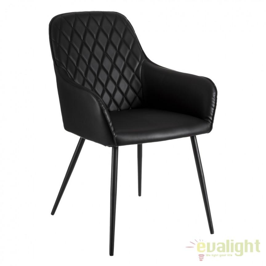 Scaun design elegant Jools negru DZ-105444, Scaune dining , Corpuri de iluminat, lustre, aplice, veioze, lampadare, plafoniere. Mobilier si decoratiuni, oglinzi, scaune, fotolii. Oferte speciale iluminat interior si exterior. Livram in toata tara.  a